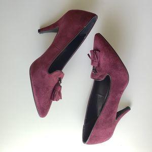 Nib ATHENA ALEXANDER Dylan burgundy tassel heels